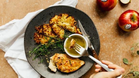 Poitrine de poulet au beurre de pomme