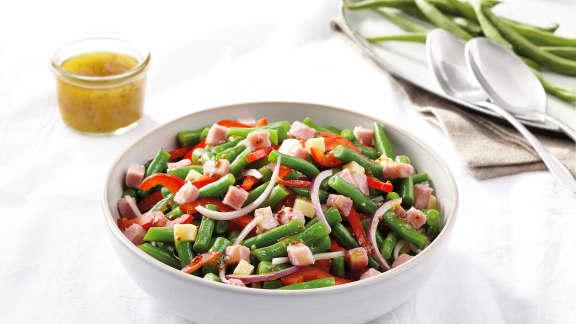 Salade de haricots verts et prosciutto cotto