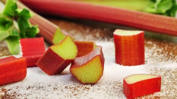 Rhubarbe au sucre de mon enfance