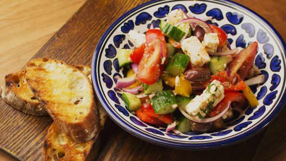 La salade grecque d'Hugo
