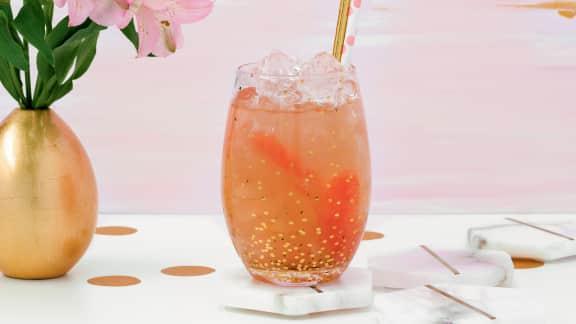 Limonade pamplemousses roses, miel et menthe