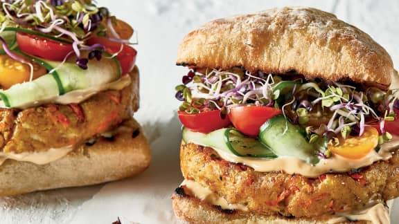 Hamburger de luxe au tofu