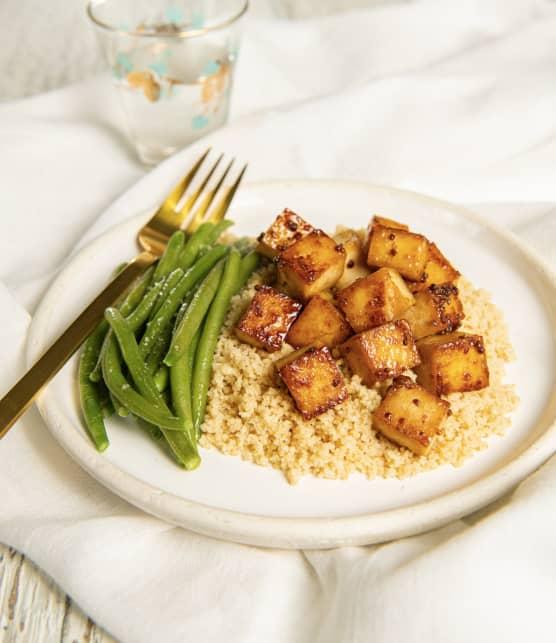 Tofu irrésistible Dijon-érable
