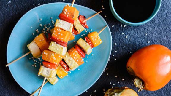 Brochettes de tofu au sésame
