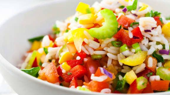 Salade froide de poulet et riz