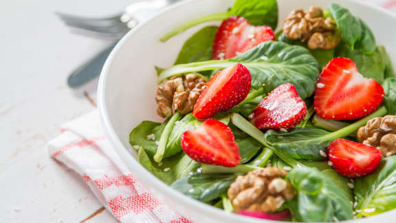 Salade de fraises à l'érable