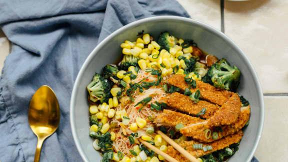 Mardi : Soupe-repas à l'escalope de veau panée