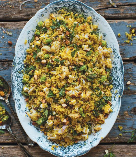 Salade de quinoa et de chou-fleur rôti