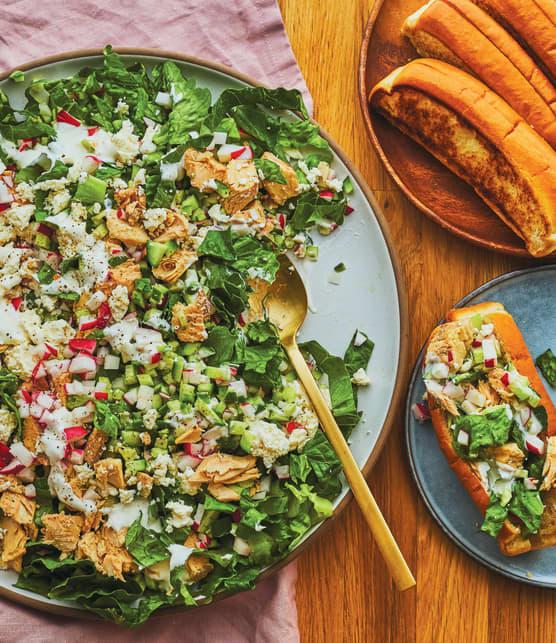 Salade crémeuse au saumon