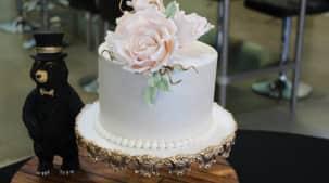 Gâteau de mariage à la grecque