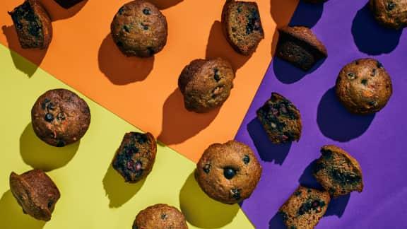 Muffins de sarrasin aux bleuets et au citron