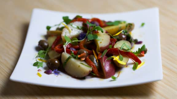 Salade de pommes de terre méditerranéenne