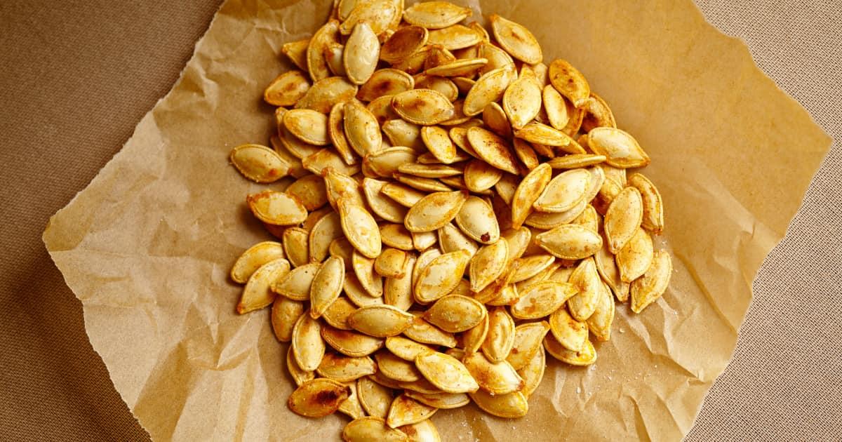 Receta de semillas de calabaza asadas |  Ánimo