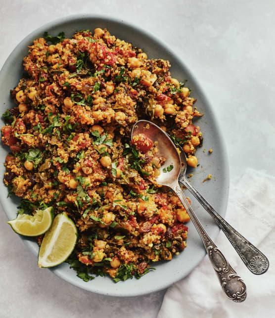 Casserole one pot de quinoa aux légumes épicés