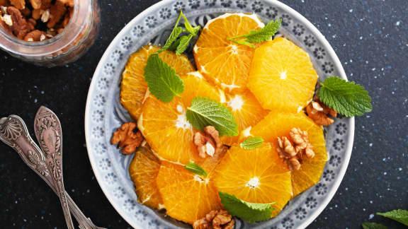 Salade à l'orange et cannelle
