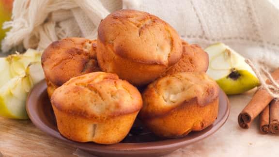 Muffins aux pommes et aux épices