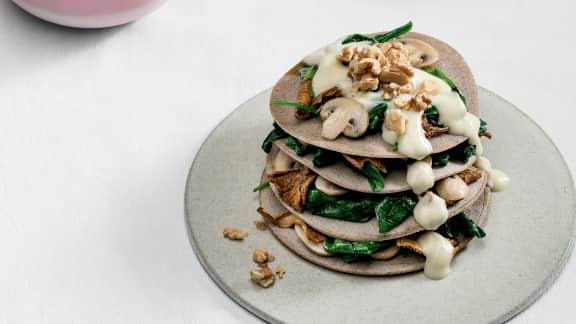 Crêpes de sarrasin aux champignons