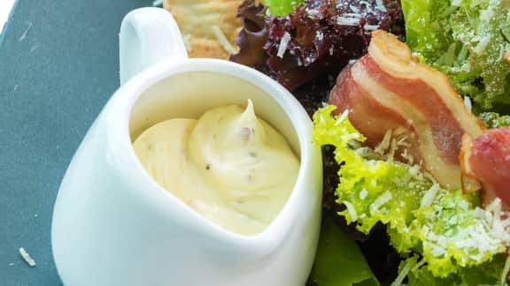 vinaigrette à salade césar
