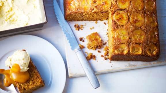 gâteau à la banane façon tatin