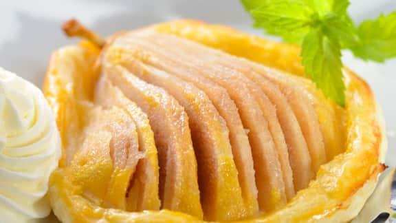 tartelettes aux poires et caramel salé