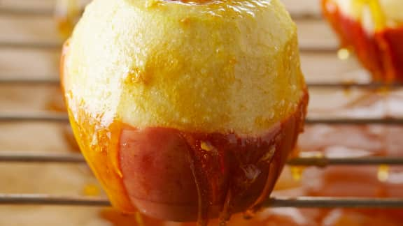 crème brûlée pommes caramel