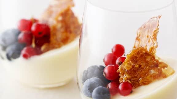 crème brûlée au vin de glace (sans oeufs)
