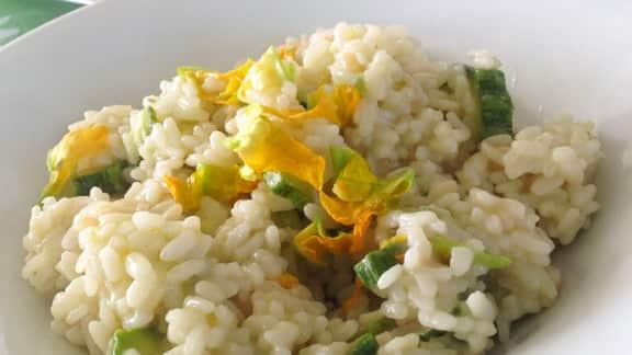 risotto blanc aux courgettes