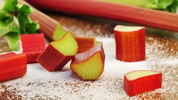 Rhubarbe au sucre