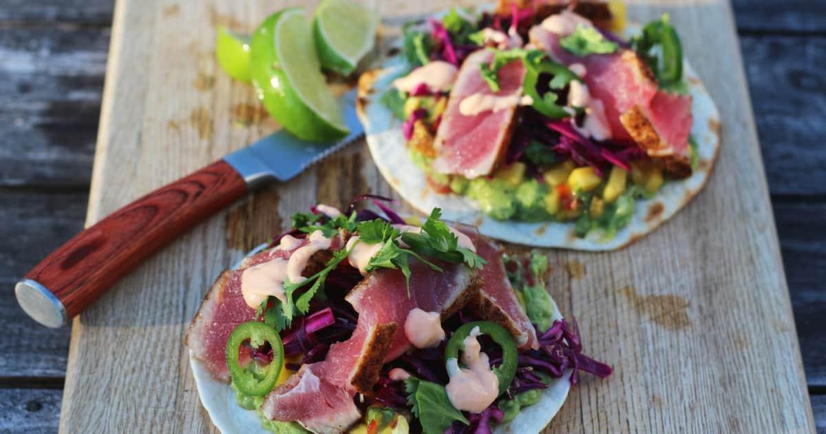 Recette de tacos au thon rouge foodlavie - Comment cuisiner le thon rouge ...