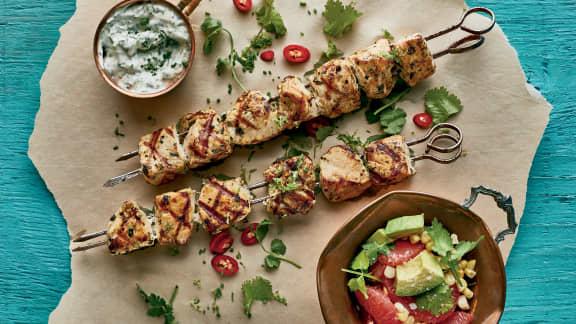 Mercredi : Brochettes de poulet tequila et lime