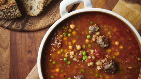 Mardi : Chorba Turc (soupe aux boulettes de viande)
