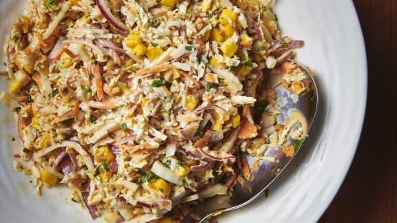 Salade de chou piquante à la mangue