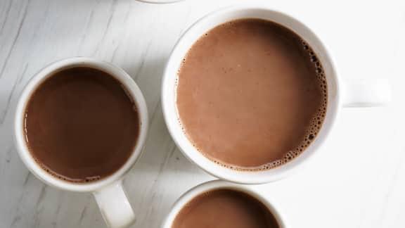 Chocolat chaud infusé au thé Earl Grey