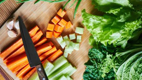 Technique pour couper des légumes