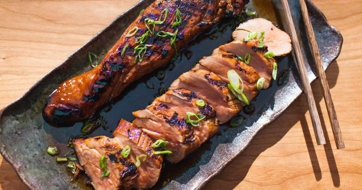 Recette de filet de porc teriyaki sur le bbq foodlavie - Cuisiner des cotes de porc ...