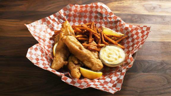 Fish and chips aux épices