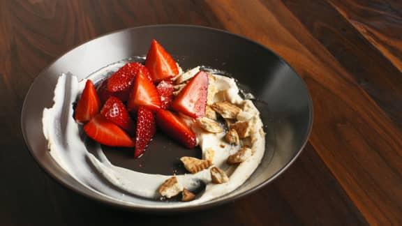Tartare de fraises et mascarpone