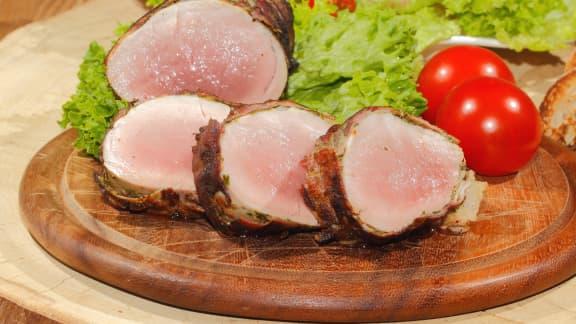 Filet de porc mariné à l'érable et à la moutarde