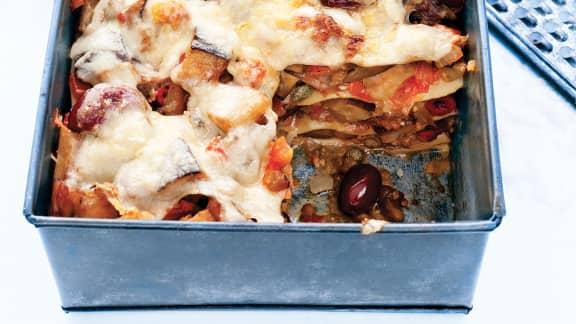 Lasagne ouverte à la caponata