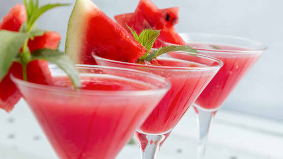 Dans un cocktail