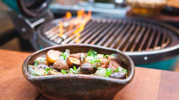 Pommes de terre grelots fumées et sauce huancaína