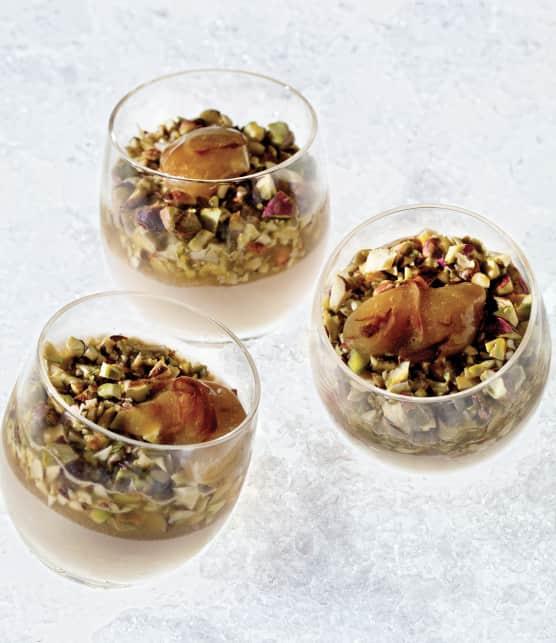 Mousse de foie de volaille et compotée d'échalotes au cidre de glace
