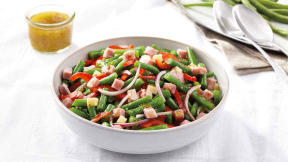 recette de salade de haricots verts et prosciutto foodlavie. Black Bedroom Furniture Sets. Home Design Ideas