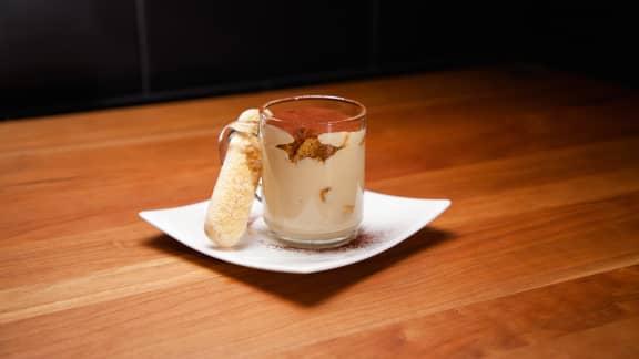 Dessert : Crémeux au chocolat blanc et café