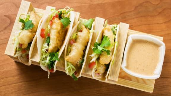 Tacos de doré en tempura