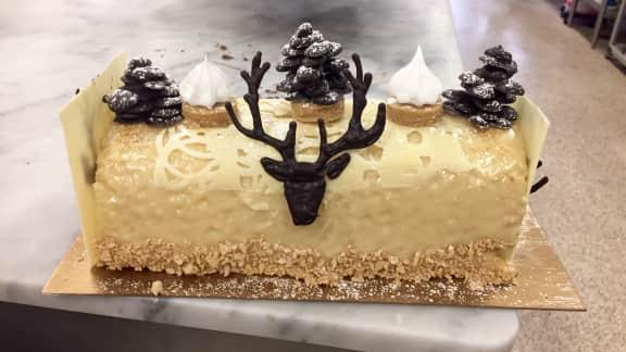 Bûche de Noël au sucre à la crème