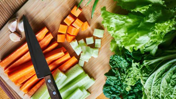Technique pour couper les légumes
