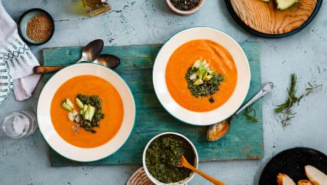 Potage carotte et gingembre