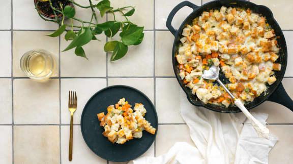 Mercredi : Casserole de vol-au-vent au tofu