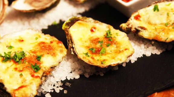 Huîtres gratinées à la « Dirty Dancing »